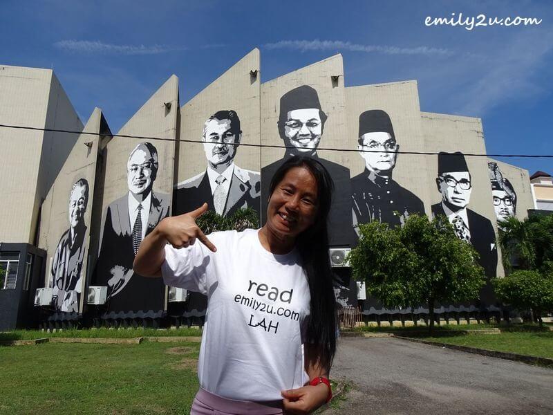 pose in front of Dewan Tunku Abdul Rahman