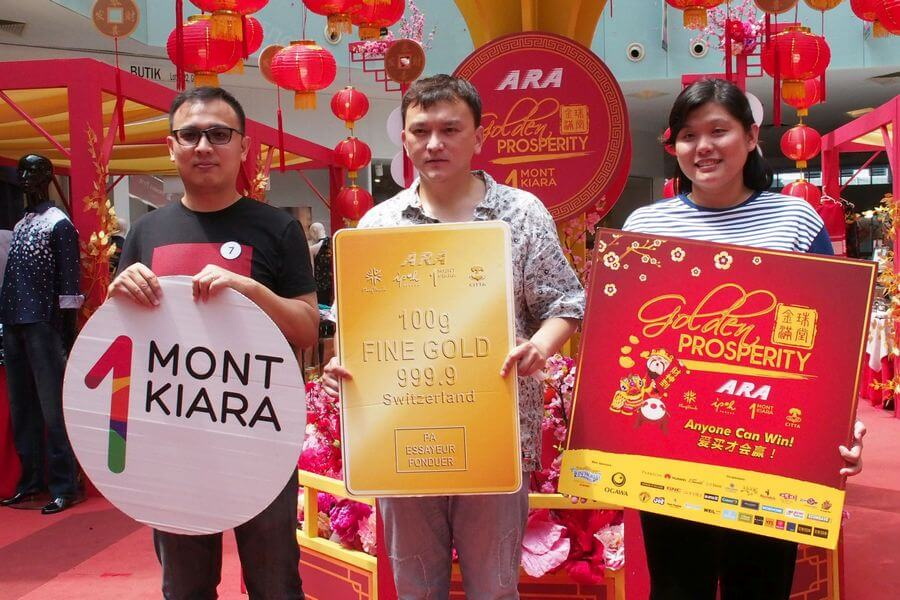 Winners from 1 Mont Kiara are Ng Heang Tong (left), Kadiliefu Haliyoula Kusiman (centre) and Lim Kwan Yin (right). The first place goes to Kadiliefu, second to Ng and third to Lim.