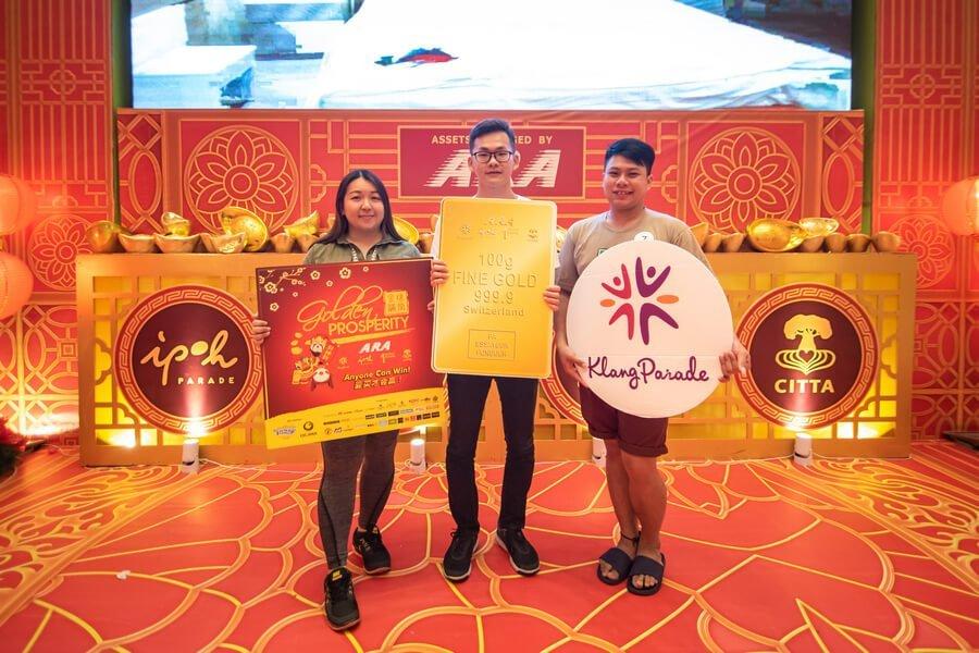 Klang Parade Top 3 Finalists include (from left) Khor Siok Lian, Soon Yoke Hong and Wong Mun Chun.