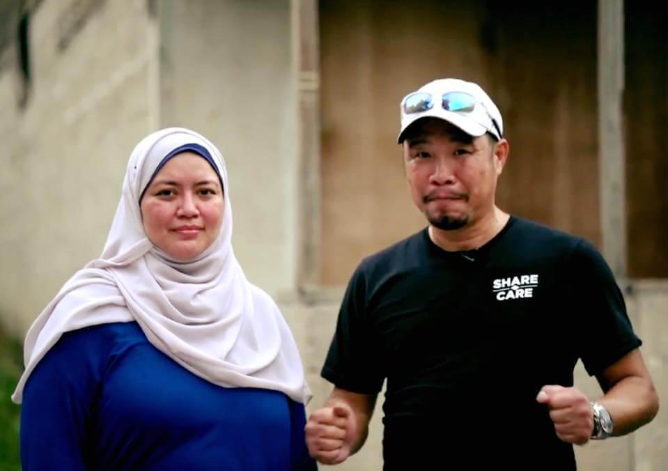 Wu with Hayati Ismail