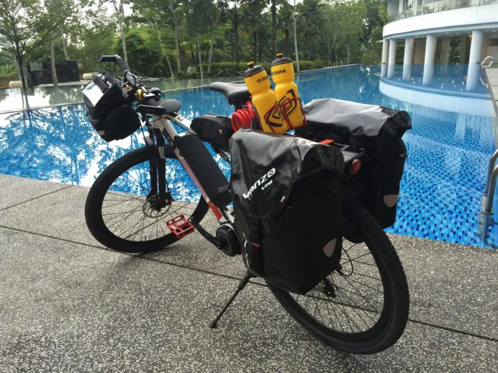 Wu's bicycle nicknamed Dim Sum