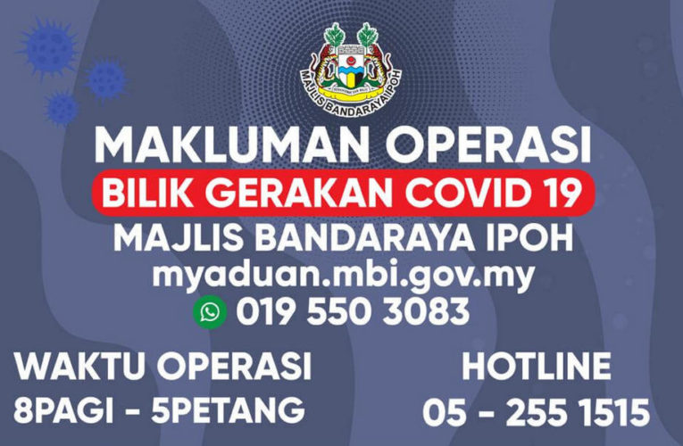 Ipoh City Council COVID-19 Operations Room Opens Today