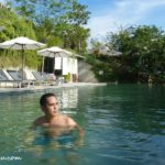 taking a dip in Belum Rainforest Resort, Pulau Banding