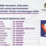 JKM Contact Numbers for Assistance During MCO