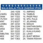 Ipoh Police Station Numbers For Emergencies