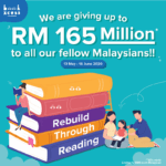 BookXcess is giving away up to RM165 million to all Malaysians to further provide access to quality English books