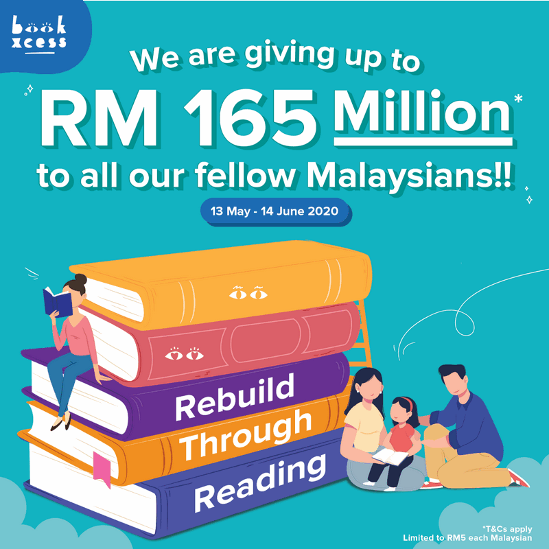 BookXcess is giving away up to RM165 million to all Malaysians to provide further access to quality English books