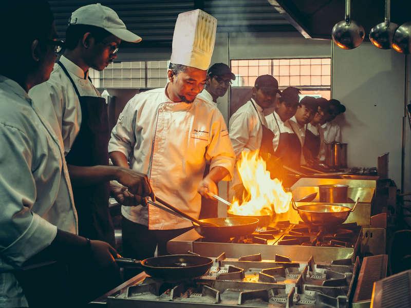 Chef Jumi in kitchen practical