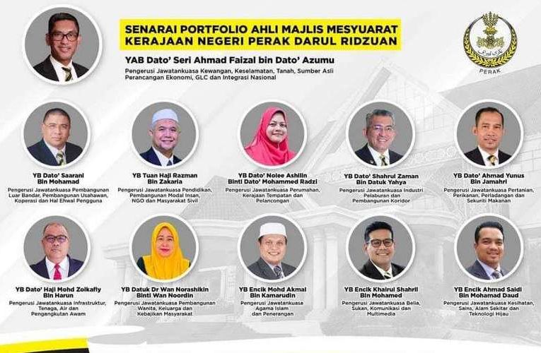 Perak State Executive Councillor Lineup Finalised
