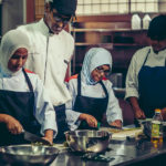 some of the students in kitchen practical