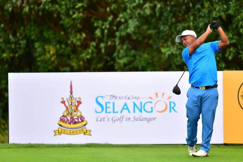 One of the golfers in action during the PGM ADT Maybank Championship 2018.