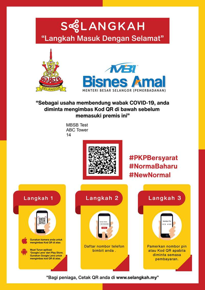 The SELangkah app introduced by the Selangor State Government as a preventative measure to minimise the infection of COVID-19.