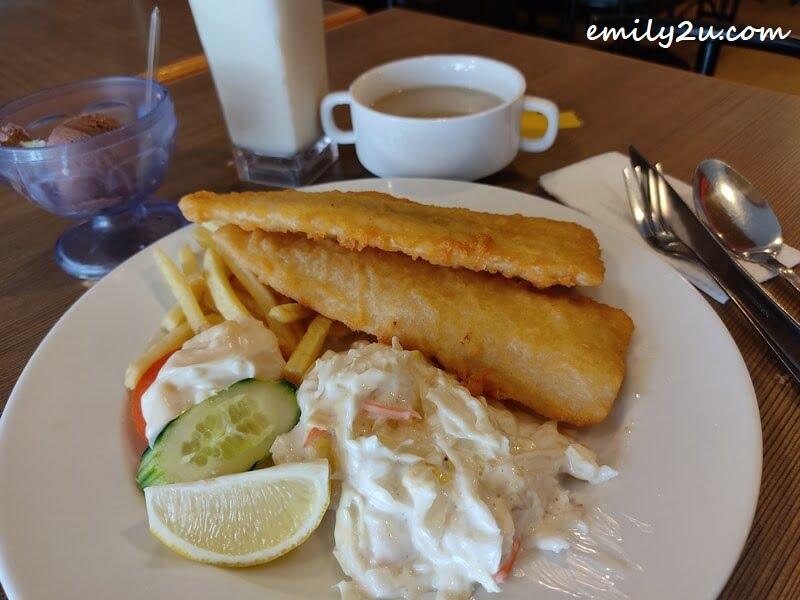 tempura fish and chips