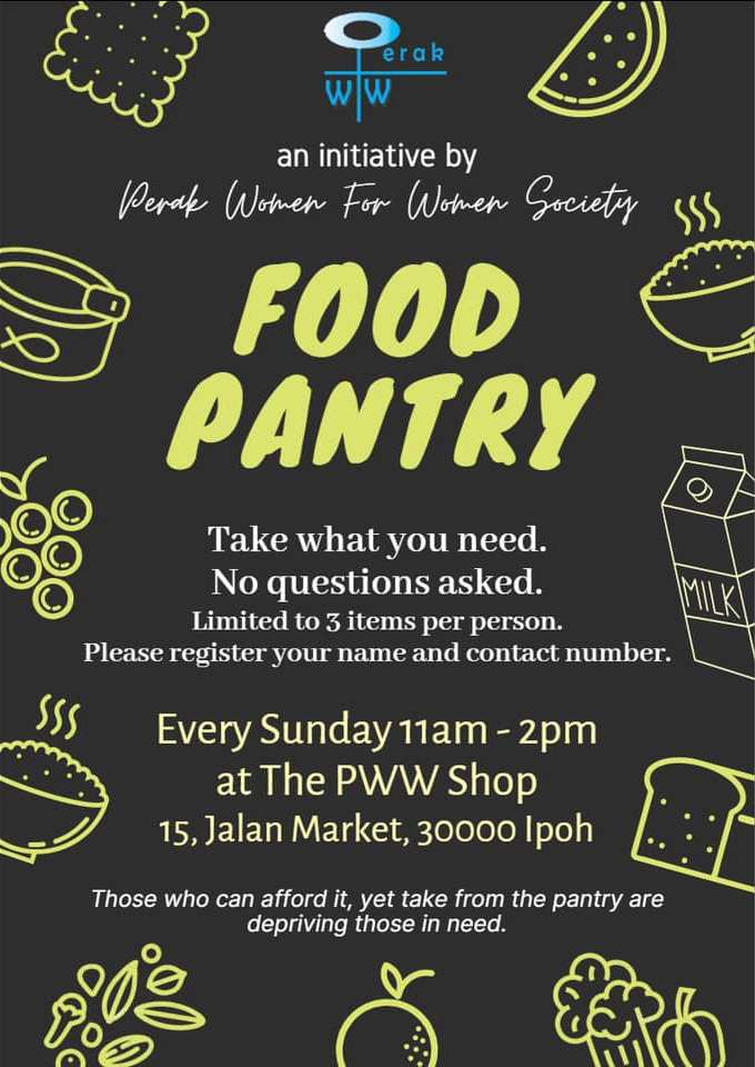 The PWW Shop pop-up food pantry