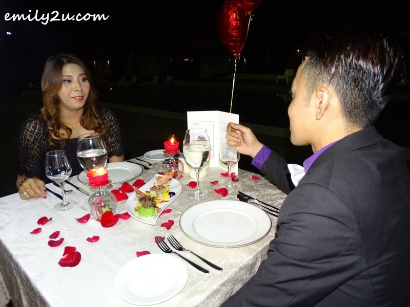 The Romantic Staycation candlelight dinner at Impiana Hotel Ipoh