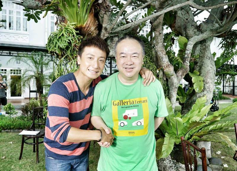 Ko (right) with lead actor, Alex Fong