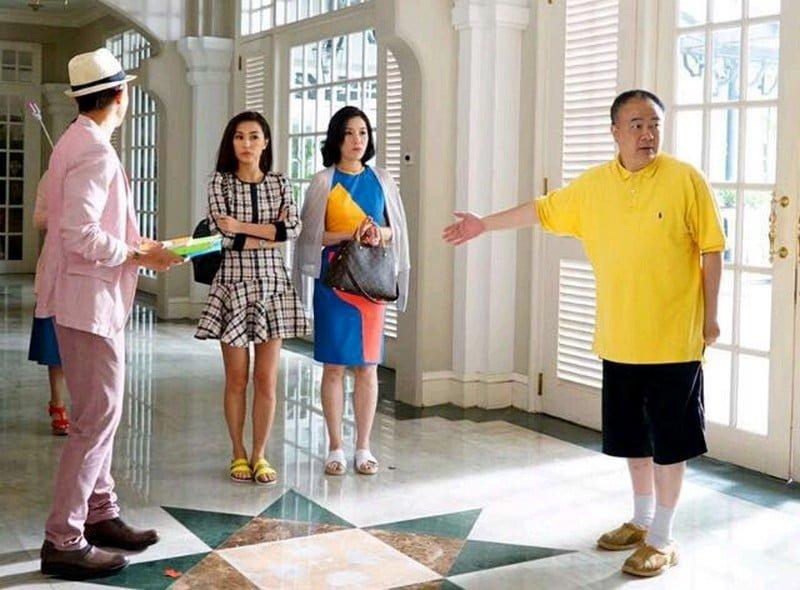 Ko (right) directs his actors (L-R) Louis Cheung, Annie Liu & Maggie Cheung