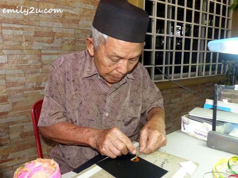 Haji Mohd. Yusuff Shamsudin at work
