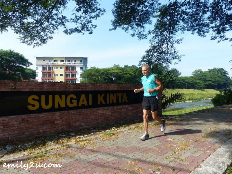 jogging along Kinta River in Ipoh