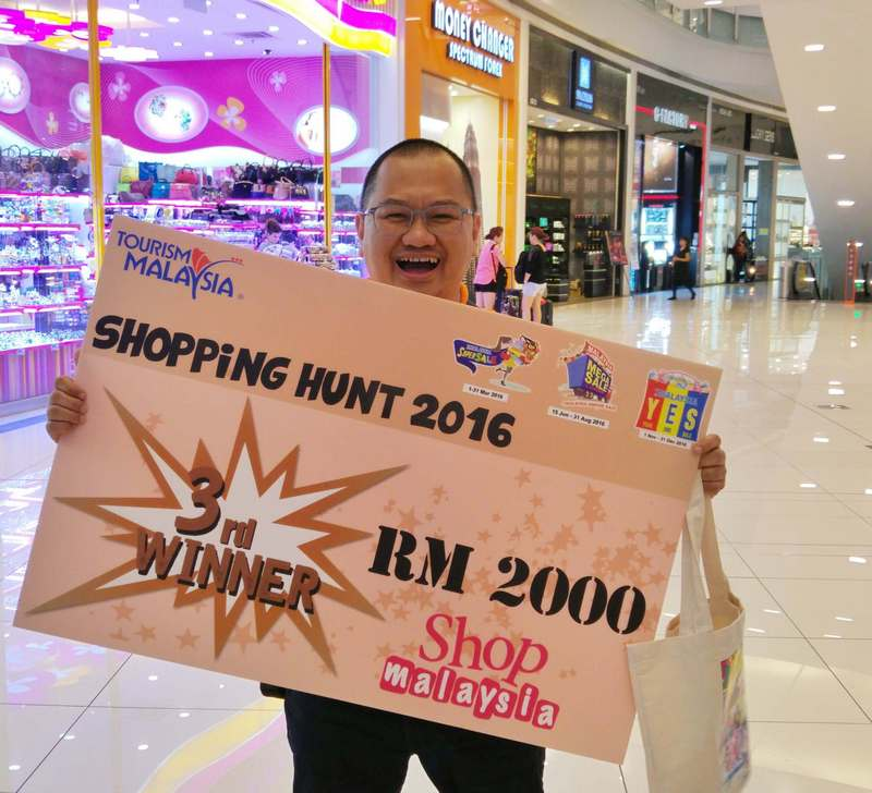 3rd place winner in shopping hunt