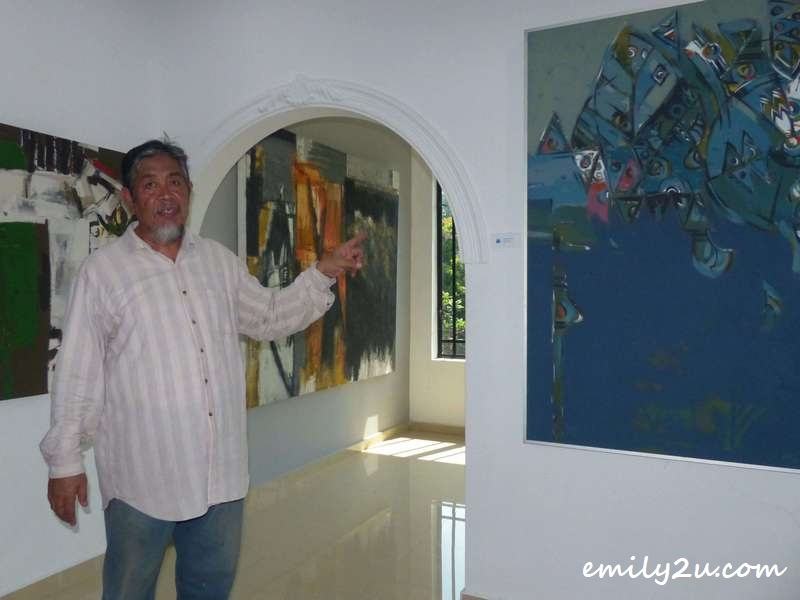 Awang Damit Ahmad in his private gallery