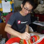 Wong Chee Wah paints the head