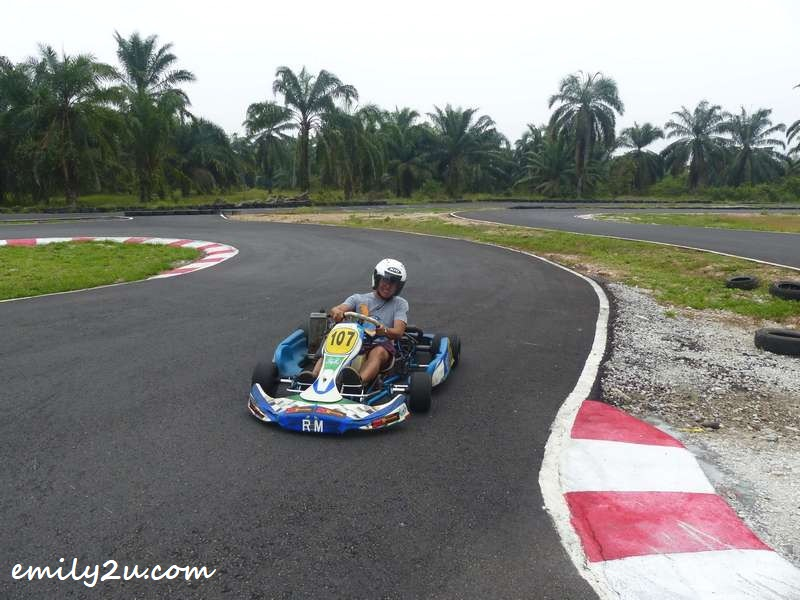 getting behind the wheel of a go-kart