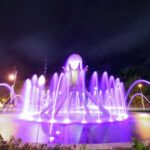 Sultan Yussuf Roundabout in purple