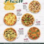 Tiffin Restaurant pizza menu