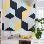 Want to add a splash of colour to your home_ Try using a proper paint tape like the ScotchBlue™ Original Painter's Tape to create the perfect geometric feature wall.