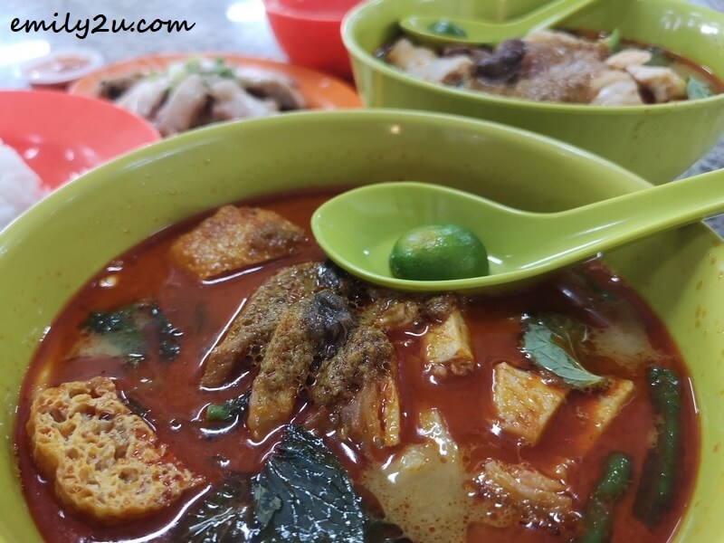 Curry Noodles with Roasted Pork