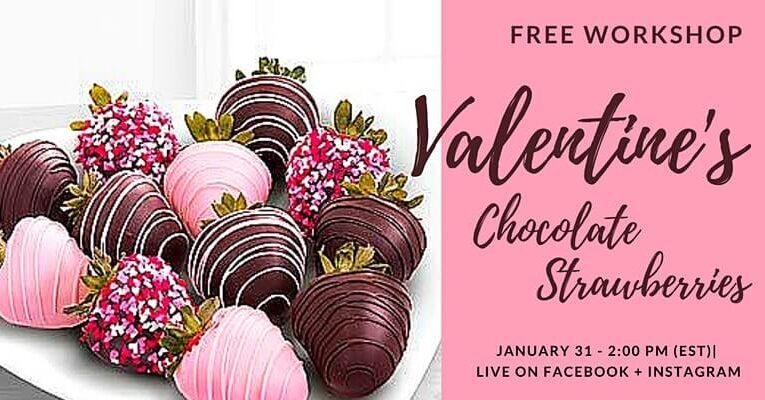 Valentine's Chocolate Strawberries Workshop