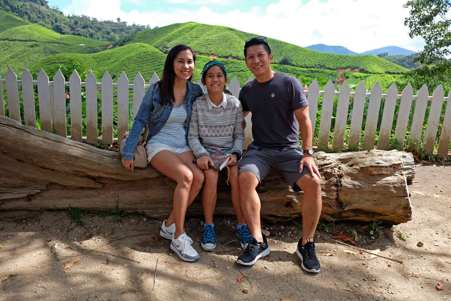 Rene and family in Cameron Highlands