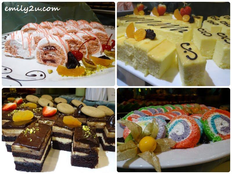 an assortment of desserts