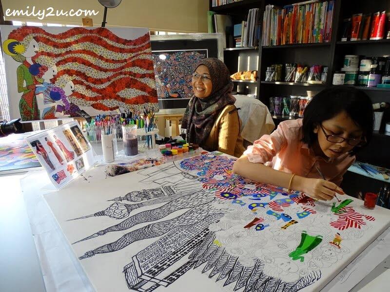 Jamila at her desk