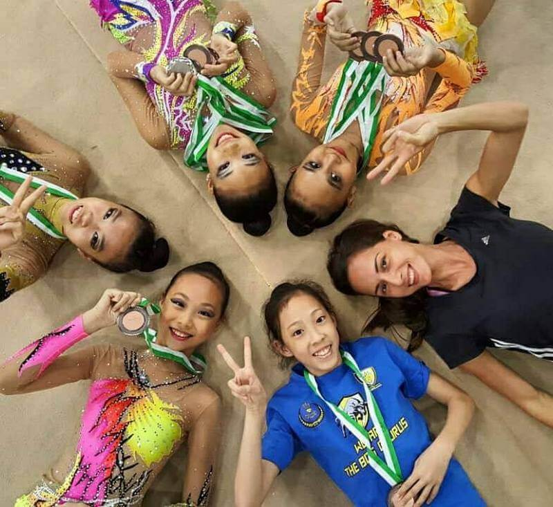 Logunova with some of her students