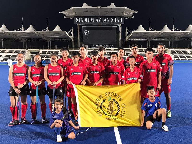 group photo prior to friendly game with Ipoh Lads in Ipoh at Stadium Azlan Shah
