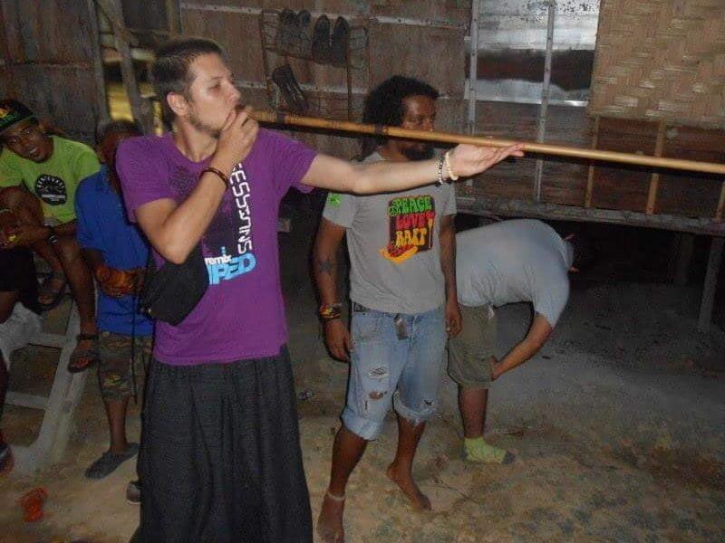 mastering blow piping skills in the orang asli village, Kampung Tonggang, Perak