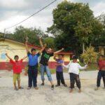 playing with the kids at the orang asli settlement in Kampung Tonggang, Perak