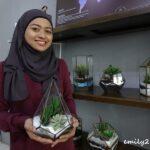 wife Ilmi Shukri Khodori with their product, terrarium