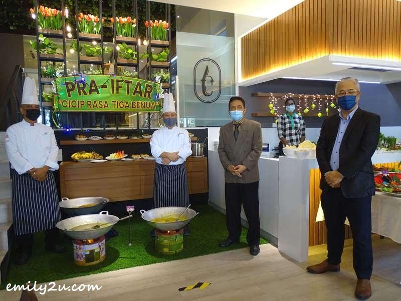 Authentique Restaurant team (L-R): Chef Azim, Chef Sariman, Chief Executive Kompas International College Dr. Ahmat Zambri Abdullah & CEO Shen Jai Education Group Justin Yeoh