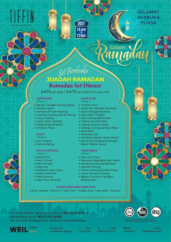 WEIL Hotel Ramadan Set Dinner menu
