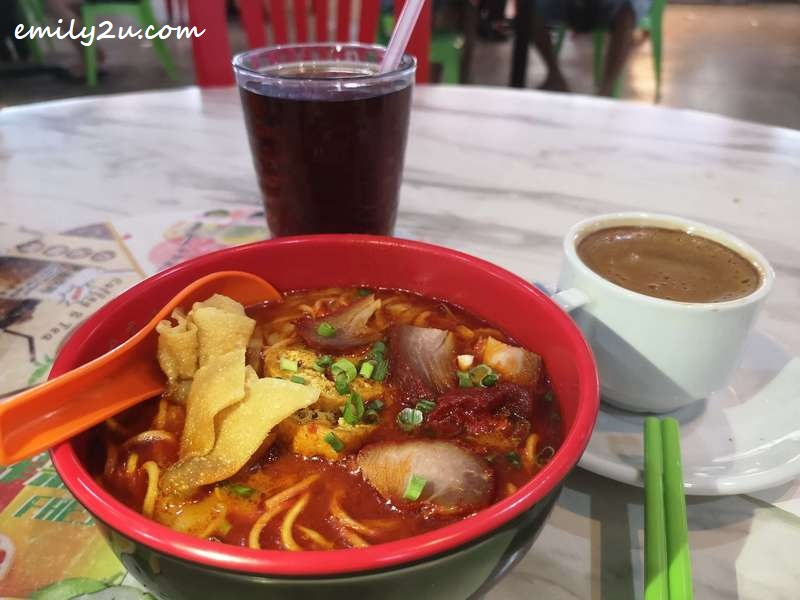 Curry Noodles with char siew and taufu pok