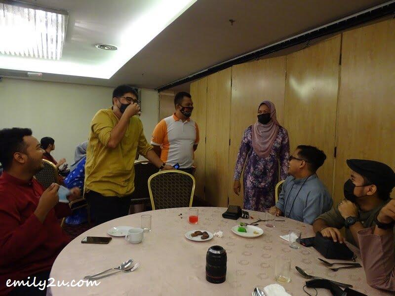YB Dato' Nolee Ashilin Bt. Mohammed Radzi chats with press members