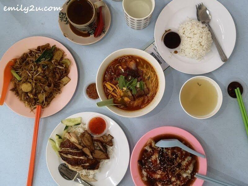 lunch at Kedai Kopi Tasek Indra