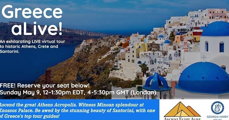 Greece aLIVE! An exhilarating virtual tour to Athens, Crete & Santorini