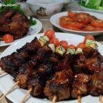 5 Barbecued Lamb Skewer with Vegetables